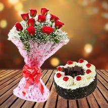Blackforest Cake & Roses