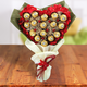 Exclusive Ferrero Rocher Heart  Chocolate Bouquet