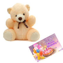 Teddy With Birthday Card