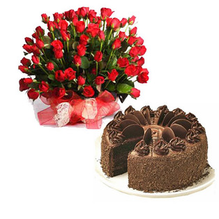 Send  Roses basket to Bangalore