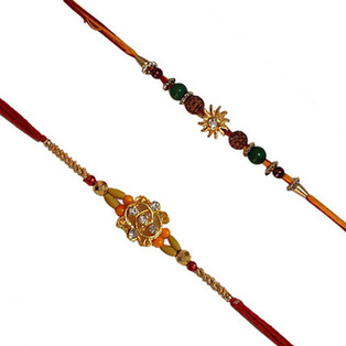 Set of 2 Rakhis-Mixed