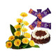 Gerbera, Cake & Chocolates