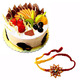Fresh Fruit Cake with Free Rakhi