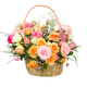 Mixed Roses Basket - Medium
