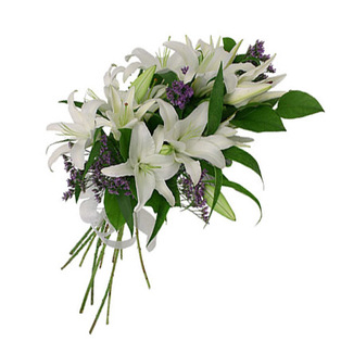 White  Lily Flowers to Bnagalore