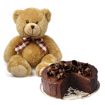 Teddy With 5 Star cake