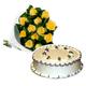 Yellow Roses & Vanilla Cake