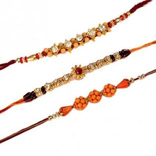 Set of 3 Rakhis-Mix