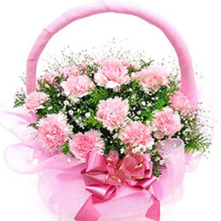 Pink Carnation Basket to Bnagalore