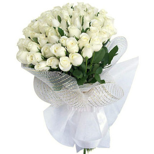 White  Roses  Bouquet to bangalore