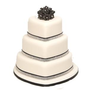Chocolate Truffle cake to Bangalore  3 Tier Heart Shape Cake
