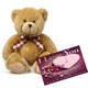 Valentine Teddy with Love You Card