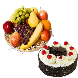 Send fruits with cake ts with Bnagalore