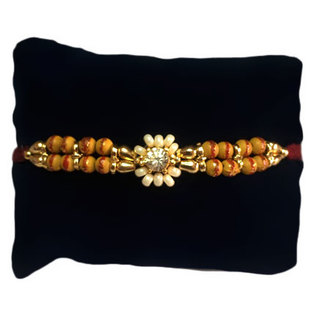 Wooden Pearls Rakhi