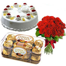 Cake, Flowers & Chocolates