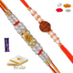Set of 2 Rakhis with 200 Gm Kaju Barfi