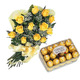 Yellow Roses & Chocolates