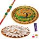 Set of 2 Fancy Rakhis with Sweet Hamper