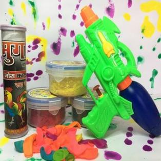 Pichkari and Colors Holi combo for kids