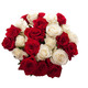 Valentine Red & white Roses