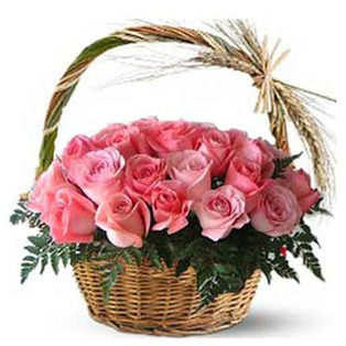 Pink Rose Basket to Bnagalore