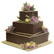 3 Tier Square Black Forest Cake