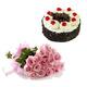 Pink Roses & Black Forest Cake