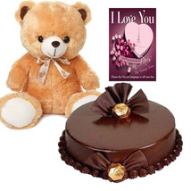 Cake & Teddy with Card