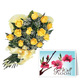 Yellow Roses Bouquet With Card