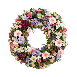 Mixed Flowers Wreath