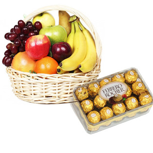 Send fruits with choclates ts with Bnagalore