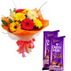 Mixed Gerbera with Chocolate